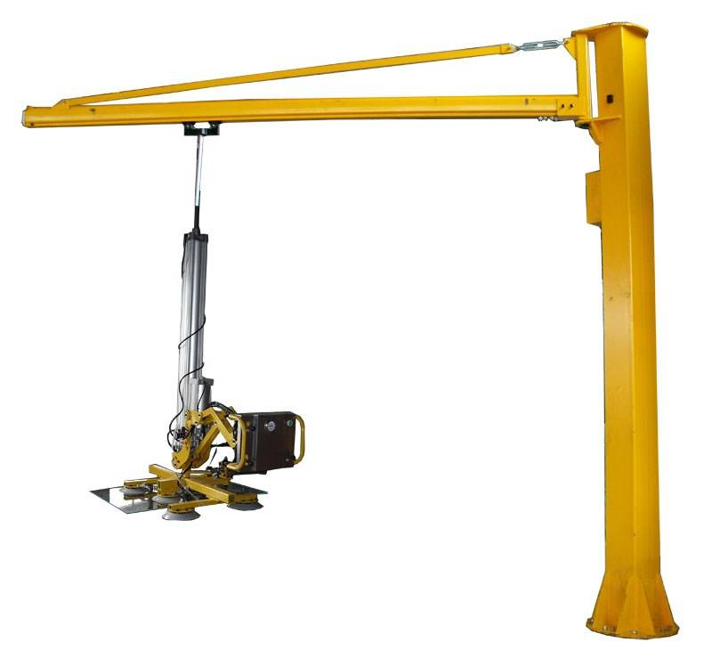 Glass Pillar Jib Crane